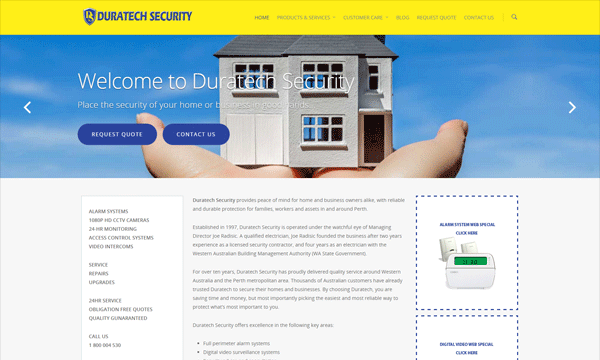 DuratechSecurity WebsiteLaunch